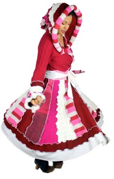 Elf Coat Peppermint Princess OOAK Upcycled by IntricateSimplicity1, $225.00 Just in time for Valentine's Day