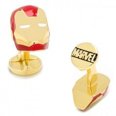 Officially licensed 3D Iron Man Cufflinks by Marvel. Available at CUFFZ.com.au