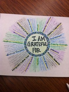 Thanksgiving or other study of gratitude.--Mandala of Gratitide- Great art therapy idea. Counseling Activities, Art Therapy Activities, Group Counseling, Group Activities, 5th Grade Activities, Activities For Teens, Health Activities, Therapy Tools, Play Therapy