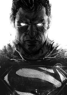 Superman sketch by iVAN TAO on ArtStation