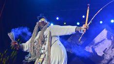 Traditional healer, artist and activist Albert Ibokwe Khoza performing at AfroPunk Johannesburg