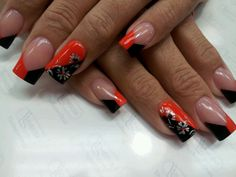 Color acrylic v french nails .... BOSS