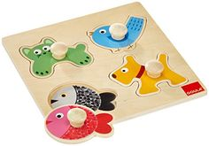 From 7.14:Goula Wooden Pet Animal Puzzle