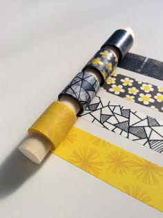 Sunshine & Clouds Washi Tape Sample Set - brighten your day with this yellow and grey medley of tapes!