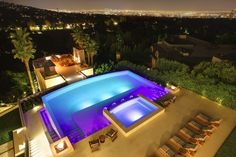 Landry Design Group, Inc. / High-End Custom Residential Architecture Los Angeles Cool Pools, Pool Designs, Residential Architecture, Swimming Pools, Swiming Pool, Pools