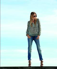 soyaconcept - blouse - shirt - pants - jeans - denim - animal print - allover print