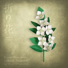 Chinese Dogwood. Origami Flower Garden