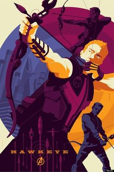 Awesome AVENGERS Posters from Mondo - Hawkeye and Black Widow - News - by Tom Whalen