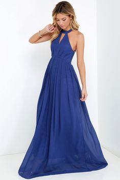 Bariano Tender Moment Royal Blue Maxi Dress at Lulus.com!