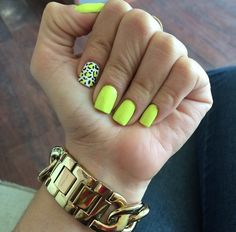 10 Modelos de Unhas Neon que você deve tentar! Neon Toe Nails, Cheetah Nails, Bright Nails, Shellac Nails, Bling Nails, Stiletto Nails, Lime Green Nails, Neon Yellow Nails, Neon Nail Designs
