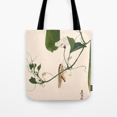 Buy Grasshopper on Gourd Vine Tote Bag by artysmedia. Worldwide shipping available at Society6.com. Just one of millions of high quality products available.
