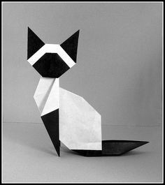 origami cat - Google Search