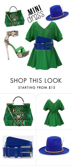 """""""Grinch blues.."""" by vintagefrique ❤ liked on Polyvore featuring ShoeDazzle, Dolce&Gabbana and Nick Fouquet"""