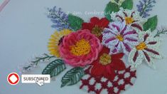 Brazilian Embroidery Stitches, Hand Embroidery Videos, Creative Embroidery, Simple Embroidery, Hand Embroidery Designs, Diy Embroidery Flowers, Etsy Embroidery, Christmas Embroidery Patterns, Embroidery Stitches Tutorial