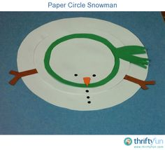 This paper snowman would be adorable on a card or as a kids art project.