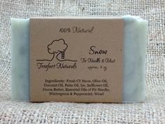 Snow soap   Handmade Cold Process All Natural by TreefortNaturals, $5.50 #teamdream