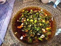 Korean Sesame Marinade for Fish Fish Marinade, Marinade Sauce, Chinese Food, Japanese Food, Asain Food, Global Food, Sesame Sauce, Asian Recipes, Ethnic Recipes