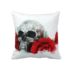 Shop scull pillow created by SivFoto. Make And Sell, How To Make, Custom Pillows, Your Design, The Neighbourhood, Throw Pillows, Make It Yourself, Skeletons, Knitting