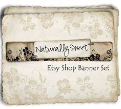 Etsy Shop Banner  Naturally Sweet  banners profile by BrandSense