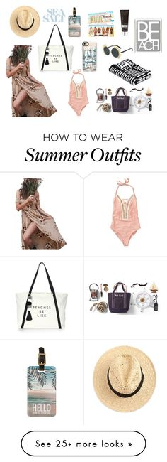 """""""BORA BORA"""" by ndelarose on Polyvore featuring Milly, Becca, Casetify, Beach Bunny, Lands' End and Barclay Butera"""