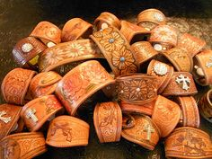 Orgininal Cowgirls Cuffs~ Made made in the Usa by Martiny Saddle Co. ~ available at Lil' Red Roan
