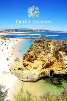 Close to the west coast, In a sea of beaches, grottoes and sandstone cliffs, stands Lagos, one of the most beautiful towns in the Algarve coastline. #lagosportugal #beautifulplaces Algarve, Walking Map, Portugal, Famous Beaches, Sandy Beaches, Fishing Boats, West Coast, Traveling By Yourself, Lakes