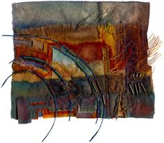 Magz Roberts | Russet Field | Dyed, cut and stitched fabric, paper, beads