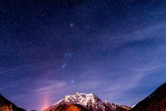 Nachtaufnahme Sternenhimmel Mayrhofen