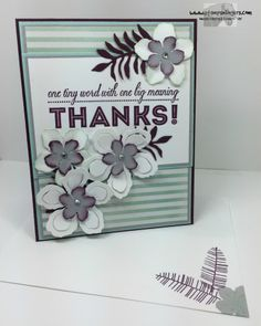 Stampin' Up! Botanicals One Big Meaning Thanks!