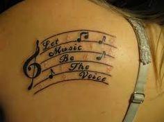 Resultado de imagen de tatouages partition musique