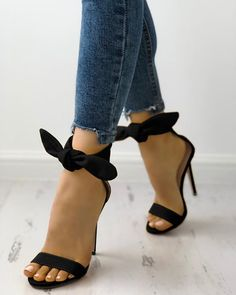 Shop Peep Toe Thick Strap Ankle Tie Stiletto Sandals right now, get great deals at divaslily Cute Heels, Lace Up Heels, Ankle Strap Heels, Ankle Straps, Pumps Heels, Stiletto Heels, High Heels, Shoes Sandals, Heeled Sandals