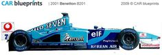 2001 Benetton B201 F1 OW blueprint