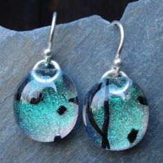 Glass and Silver earrings by unitydesigns on Etsy, $25.00