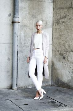 Shop this look on Kaleidoscope (coat, jeans, pumps)  http://kalei.do/WdmU7HbVwybfKMtB