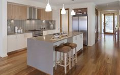 Metricon homes - Kubis kitchen (maybe black on the bench top?)