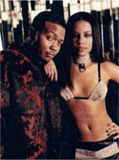 With the producer who brought her to bigger fame, and was also in love with her. Timbaland