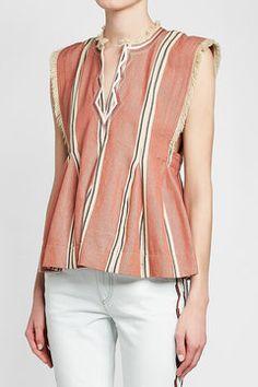 ISABEL MARANT ÉTOILE - Drappy Cotton Top | STYLEBOP Orange Style, Orange Fashion, Isabel Marant, Blouse, Cotton, Shopping, Tops, Women, Clothing