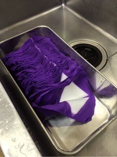 Itajime shibori by Himenorumi in Japan. Fabric has been dyed, not yet opened to see results.