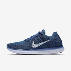 Nike Mens Free RN Flyknit Running Shoe COASTAL BLUEWHITESQUADRON BLUE 80 *  For more information,