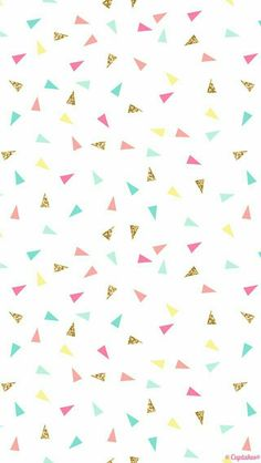 Pink mint turquoise gold mini triangle confetti iphone phone wallpaper background lockscreen pastel also giselle cazares Tumblr Wallpaper, Wallpaper Pastel, Screen Wallpaper, Confetti Wallpaper, Confetti Background, Triangle Background, Cool Wallpapers Iphone X, Iphone Wallpaper, Cute Wallpaper For Phone