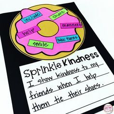 Back so school activity.how can I show kindness. I wanted to pop in real quick and show you a free read aloud activity that is perfect for back to school. Have you read the book, The Jelly Donut Difference by Maria Dismondy? Beginning Of The School Year, First Day Of School, Sunday School, Back To School Art, Summer School, Social Emotional Learning, Social Skills, Social Work, Kindness Activities