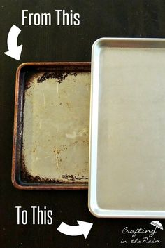 Try this fool proof trick for getting clean baking sheets. An easy-to-follow recipe and no-fail final step will give you new cookie sheets.