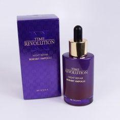 NEW Missha Time Revolution Night Repair Science Borabit Activator Ampoule 8806185784276 Korean Products, Whitening, Lotion, Moisturizer, Perfume Bottles, Science, Skin Care