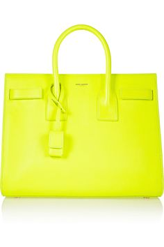 Saint Laurent | Sac Du Jour small neon leather tote | NET-A-PORTER.COM