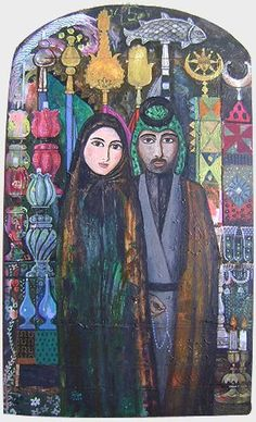 Husband & Wife by Iraqi artist Ali Al Tajer