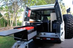 ute tray camping setup kitchen drawer - Google Search