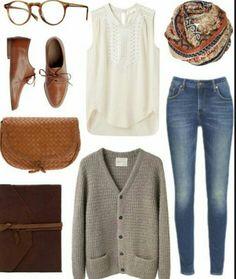 Outfit mujer joven elegante pero sencillo,casual urbano,casual work.