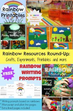 Rainbow Resources Round-Up: Crafts, Experiments, FREE Printables and MORE!!! | In All You Do