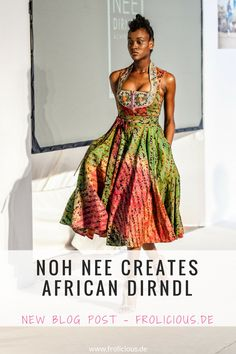How She Did it - Beautiful African Dirndl by Noh Nee Afro, African Inspired Fashion, African Fashion, African Style, African Fabric, African Dress, African Print Clothing, African Clothes, Bohemian Style Clothing