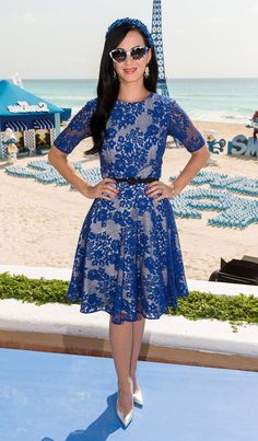Katy Perry is Ladylike in Monique Lhuillier at The Smurfs 2 Photocall in Cancun | Fashion Gone Rogue: The Latest in Editorials and Campaigns